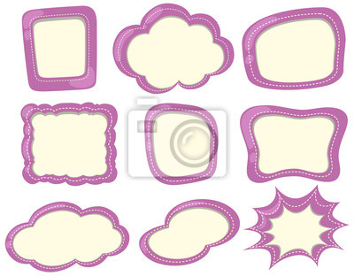 Etikettenvorlage in lila farbe fototapete • fototapeten Abzeichen ...