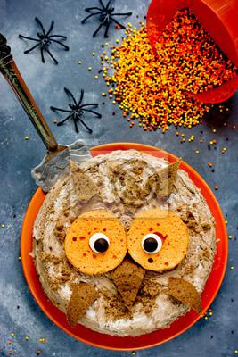Eule Kuchen Halloween Oder Geburtstagsfeier Dessert Fototapete