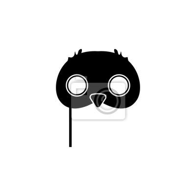 Eule maskensymbol. karnevals-element-symbol. grafikdesignikone ...