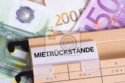 Euro Geldscheine Und Mietrückstände Fototapete Fototapeten