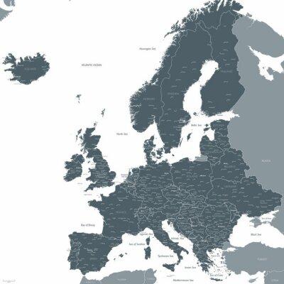Fototapete Europa-Karte Vektor