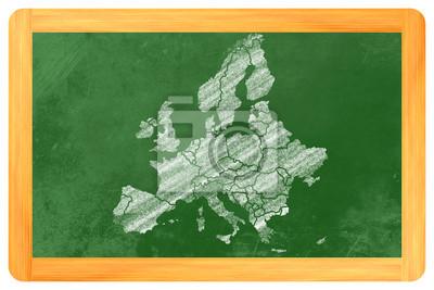 Europa mit ländern ALS eine Zeichnung Einer Tafel