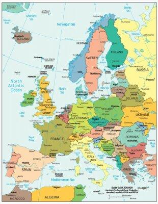 Fototapete Europas politische Spaltungen