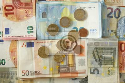 Euroscheine Und Münzen Fototapete Fototapeten 50 20 10 Myloviewde