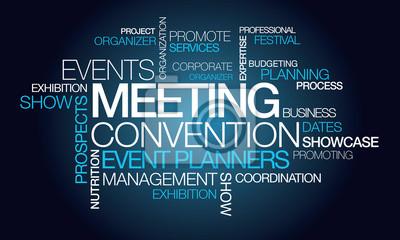 Events treffen convention event-planer wort tag cloud fototapete ...