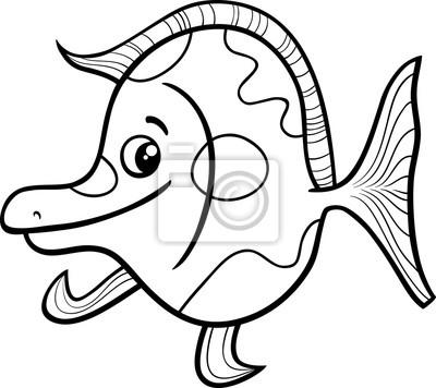 Exotische fische malvorlagen fototapete • fototapeten Färben