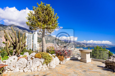 Exotischer Garten In Monaco Fototapete Fototapeten Myloviewde