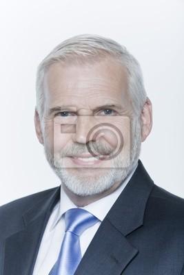 expressive Porträt einer schönen Senior Geschäftsmann
