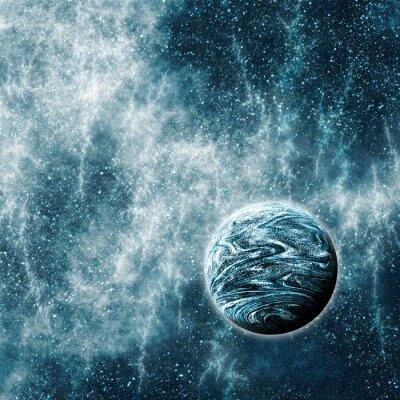 Fototapete Extrasolar Planet in einem verzogenen Raum Zeit Region