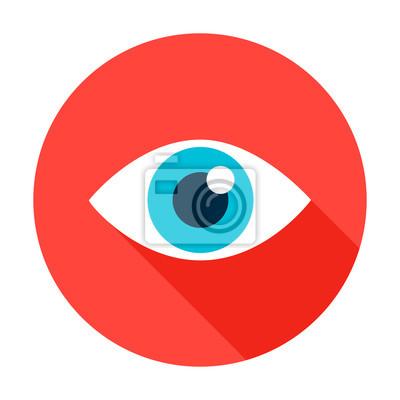 Fototapete Eye Flat Circle Icon
