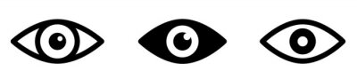 Fototapete Eye icon set. Eyesight symbol. Retina scan eye icons. Simple eyes collection. Eye silhouette - stock vector.