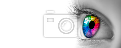 Fototapete Eye With Rainbow Colors