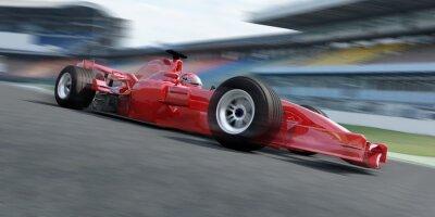 Fototapete f1 Rennfahrer Rennstrecke