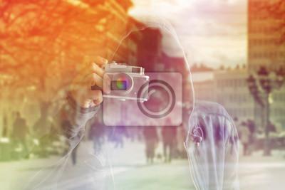 Fototapete Faceless Paparazzi Photographer