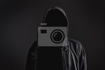 Fototapete Faceless unkenntlich Mann ohne Identität