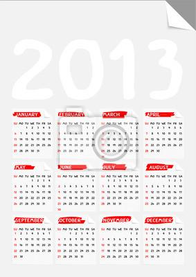 fach Ecke Papier-Kalender 2013
