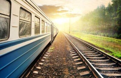 Fototapete Fahrenden Zug