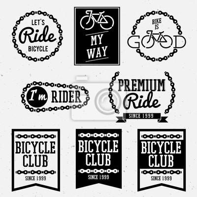 Fahrrad-Club zurück und weißen Abzeichen Sammlung