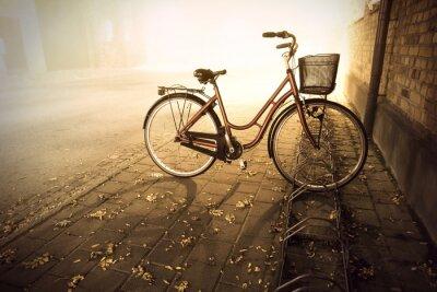 Fototapete Fahrrad im Herbst
