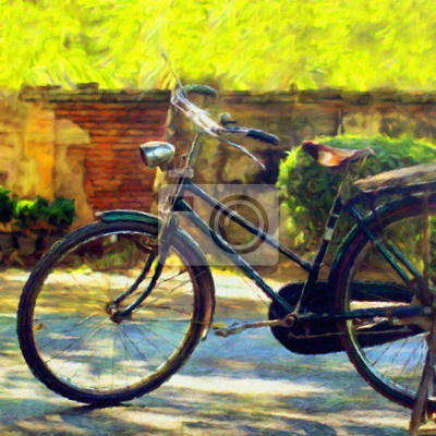 Fahrrad / Ölgemälde-Fotoeffekt
