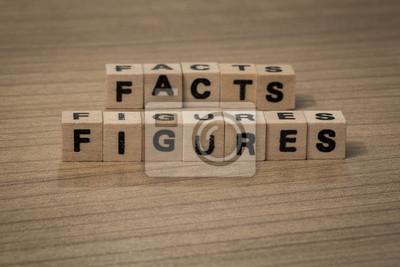 Fakten Zahlen Holzwürfel