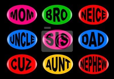 Familie Buttons