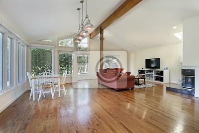 Sehr Familienzimmer mit decke holz-balken fototapete • fototapeten BO62