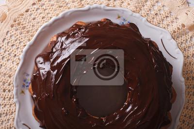Fancy Brot Kuchen Mit Schokoladenglasur Close Up Horizontale