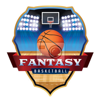 Fantasy Basketball-Emblem-Abzeichen Illustration