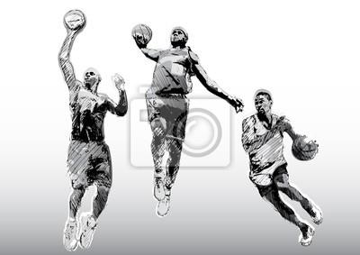 Farbe Basketball-Trio