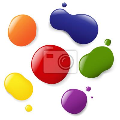 Farbe Blobs Set