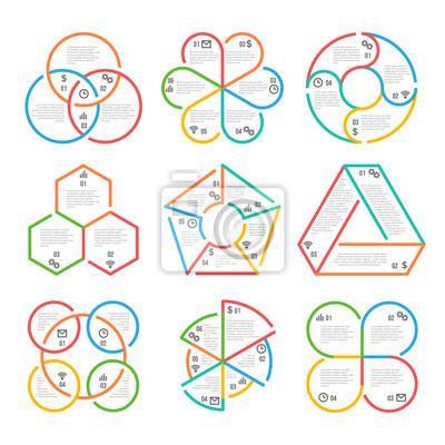 Farbe dicke linie kreis, dreieckig, sechseckig, fünfeckigen ...