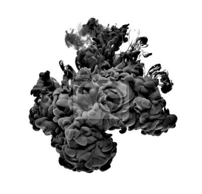 Fototapete Farbe in Wasserfarbe flüssig schwarz