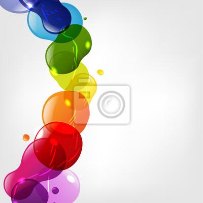 Farbe Neon Blobs Mit Bokeh