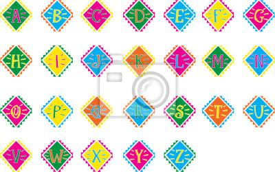 Farbige Alphabet. Vektor-Illustration
