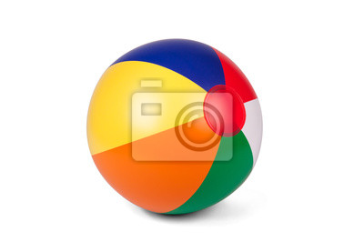 Fototapete Farbige aufblasbaren Strandball