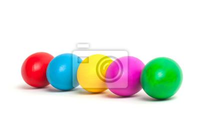 Farbige Eier Auf Einem Teller Ostereier Fototapete Fototapeten 5