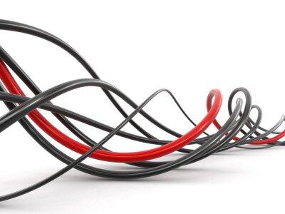 Fototapete Farbige Kabel. Bild mit Ausschnittspfad.