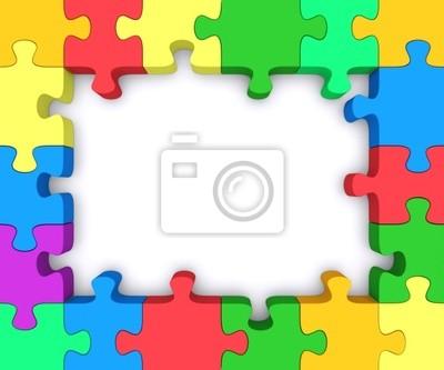 Farbige rahmen. fototapete • fototapeten Rätsel, Links, Binde ...