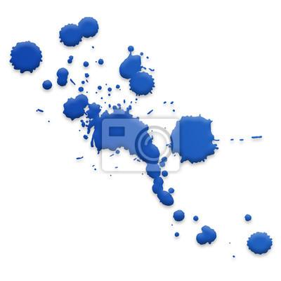 Farbkleckse blau fototapete fototapeten verschmieren - Fototapete blau ...