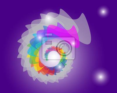 Farbkreis. Vector.on lila Hintergrund