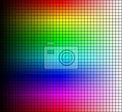 Farbspektrum Mosaik Farbton Und Helligkeit Auf Schwarzem