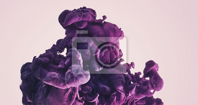Fototapete Farbtinte in Wasser