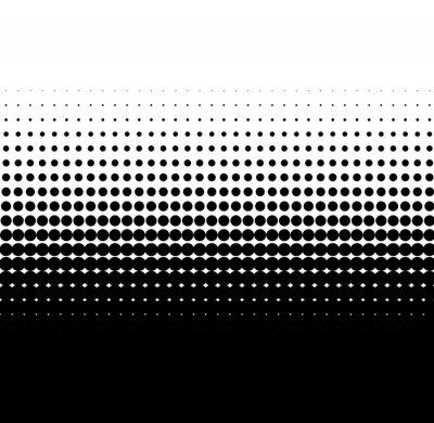 Fototapete Farbübergang schwarz weiß aus Punkten