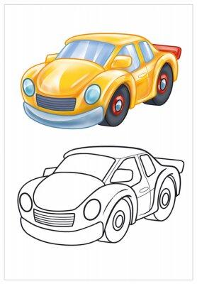 Fototapete Färbung der gelben Spielzeugauto