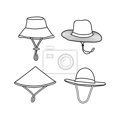 farmer hat vector illustration, outline hat design isolated white background