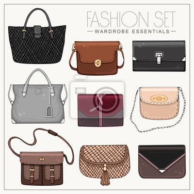 Fashion Satz von Frau Taschen