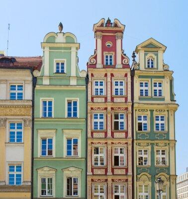 Fototapete Fassade der alten Häuser