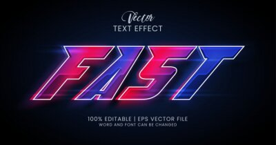 Fototapete Fast editable text effect style
