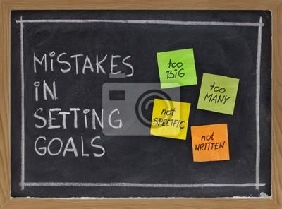Fehler in das Setzen von Zielen